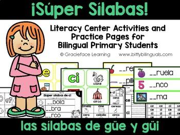 Spanish Phonics Practice for güe and güi - Averigüe sílabas