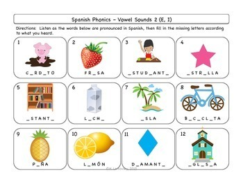 Spanish Phonics & Pronunciation Activities