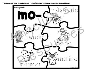 Sílabas Iniciales con la letra M - Spanish Initial Syllables