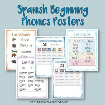 Spanish Phonics Skill Posters