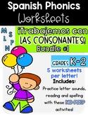 Spanish Phonics|Trabajemos con las consonantes Bundle #1|Fonética| No Prep!|