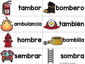 Spanish Phonics Center Words With Mb Mp Nv Centro De Fonética