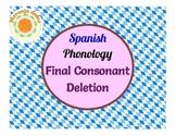 Spanish Phonology: Final Consonant Deletion - Pairs, Carib