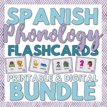 Spanish Phonology Minimal Pairs Flashcards for Speech Therapy in Spanish