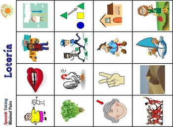 Spanish Phonology - Voicing Minimal Pairs Cards + Cariboo, Bingo, and Candy Land