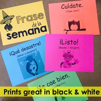 Spanish Phrase of the Week Posters - Frase de la Semana - Set # 2