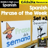 Spanish Phrase of the Week Posters - Frase de la Semana - Set # 3