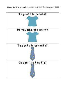 Spanish Phrases Cheer Up, Scarecrow