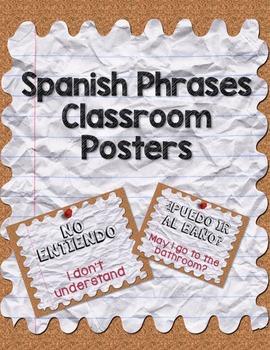 Spanish Phrases Classroom Posters