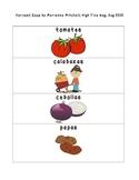 Spanish Phrases Harvest Soup