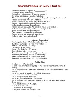 Spanish Phrases for Every Situation!