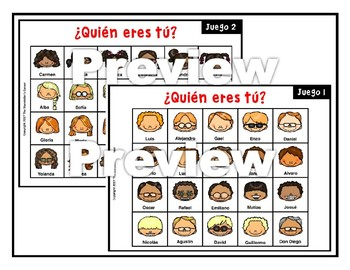 Spanish Physical Characteristics Game - ¿Quién eres tú?