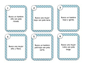 Spanish Physical Description Task Cards & Drawing Activities