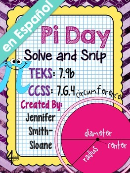 Spanish Pi Day Solve and Snip®