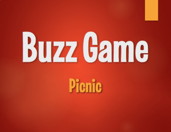 Spanish Picnic Buzz Game