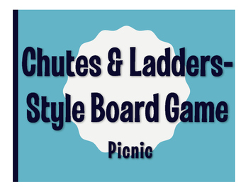 Spanish Picnic Chutes and Ladders-Style Game