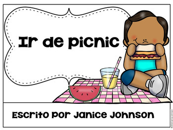 Spanish Picnic Reader {Ir de picnic} & Cut & Paste ~ Simplified