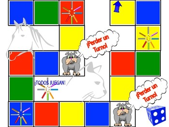 "Spanish ""Pictionary"" Board Game! (FUN & CUSTOMIZABLE!)"