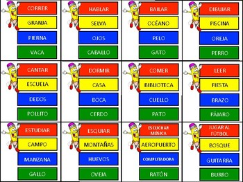 graphic about Printable Pictionary Cards named Spanish \u201cPictionary\u201d Board Video game! (Entertaining CUSTOMIZABLE!)
