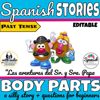 Spanish Picture Book: Body Parts (past tense)