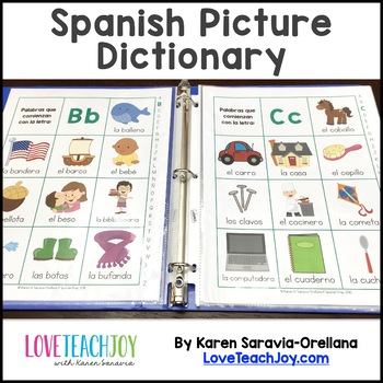 Spanish Picture Dictionary - Basic