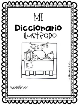 Spanish Picture Dictionary BW/ Diccionario ilustrado y centro de escritura