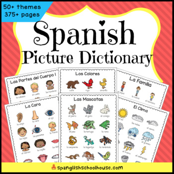 Spanish Picture Dictionary GROWING Bundle