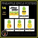 Spanish Pineapple Emoji Posters   Emotions in Spanish - FULL COLOR VERSION