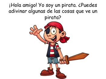 Spanish Pirate Shadow Book: ELL
