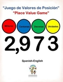 Spanish Math Place Value Game / Juego de Valores de Posicion