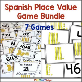 Spanish: Place Value Games Bundle