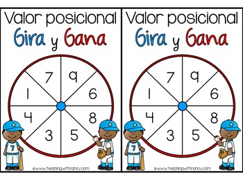 Spanish: Place Value Spin and Win