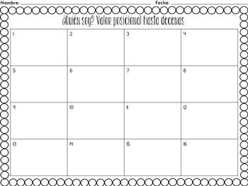 Spanish Place Value Task Cards to Tens | Tarjetas de trabajo de valor posicional