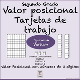 Spanish: Place Value-task cards for Math Centers- 2nd Grad