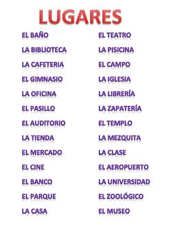 Spanish Places