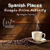 Spanish Places Los lugares Google Drive Activity Distance Learning