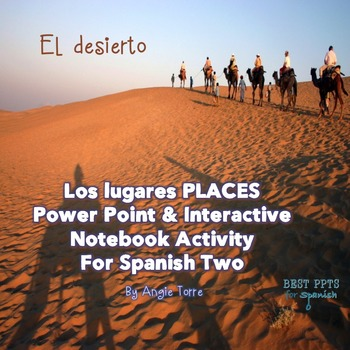 Spanish Places Los lugares Power Point & Interactive Notebook Activity