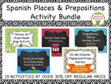 Spanish Places & Prepositions Activity Bundle