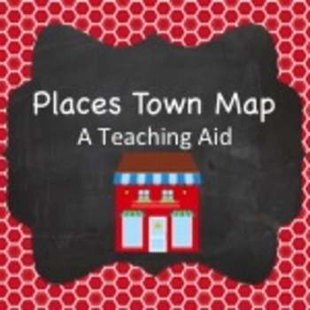 Spanish Vocabulary: Places Town Map
