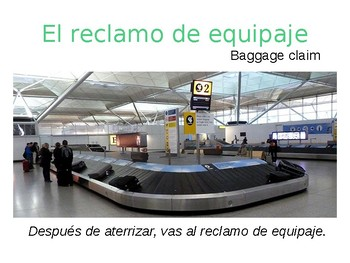 Spanish Plane Travel Vocabulary Powerpoint