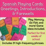 Spanish Playing Cards: Greetings, Introductions, Farewells