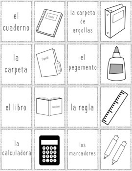 Spanish Playing Cards: In the Classroom Vocabulary