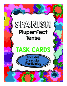 Spanish Pluperfect Task Cards