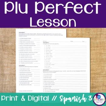 Spanish Pluperfect Verbs Lesson