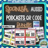 Spanish YouTube Videos QR Code (60 Videos) Library with Response Sheets
