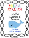 """Spanish Poem-""""¡Ahí esta! (Mirar ballenas)"""" Complete No PREP needed!"""