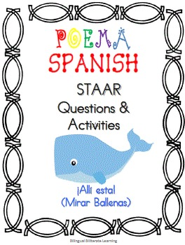 "Spanish Poem-""¡Ahí esta! (Mirar ballenas)"" Complete No PREP needed!"