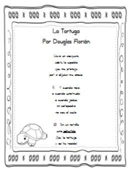 """Spanish Poem """"La Tortuga"""" STAAR Questions & Activities"""