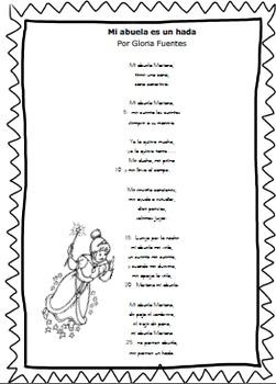 """Spanish Poem-""""Mi abuela es un hada"""" NO PREP"""