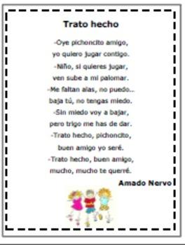 Spanish Poem/POEMA en Español/Trato Hecho (K-4)